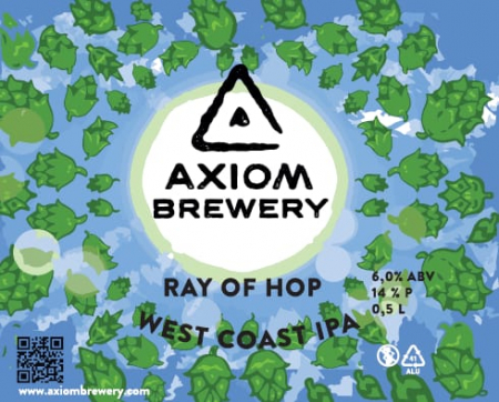 Pivovar Axiom - Ray of Hop 14° 0,5l (West Coast IPA)