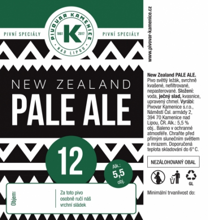 Kamenice nad Lipou - New Zealand 12° 1,5l (New Zealand Pale Ale)